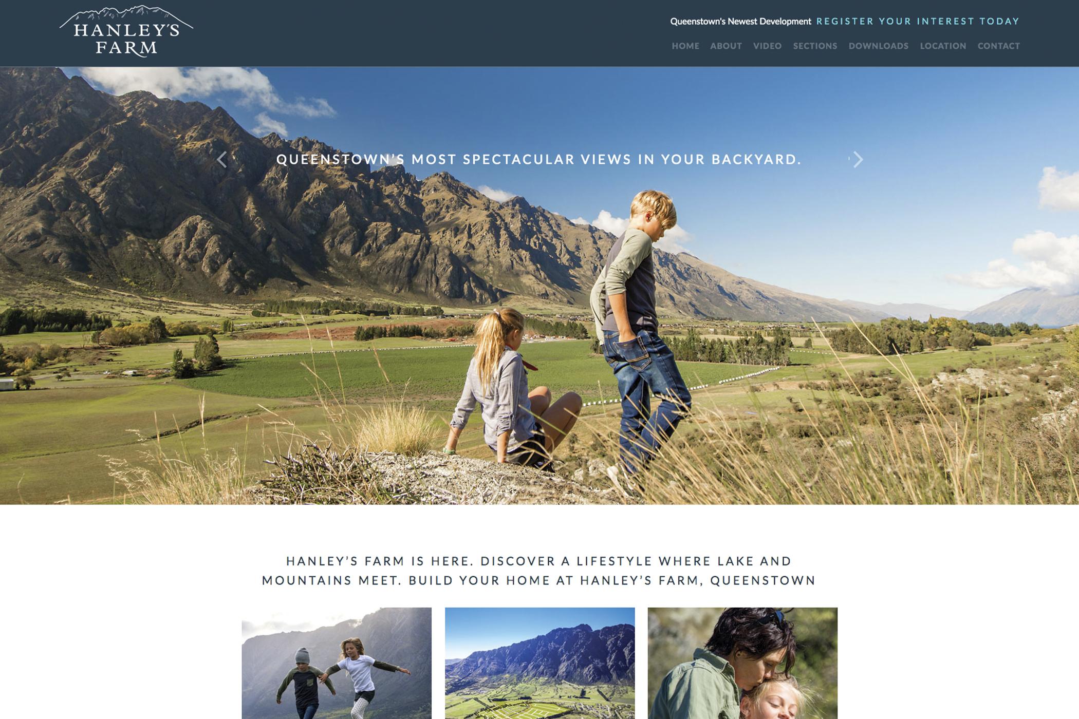 Hanleys-Farm-Website-Mockup
