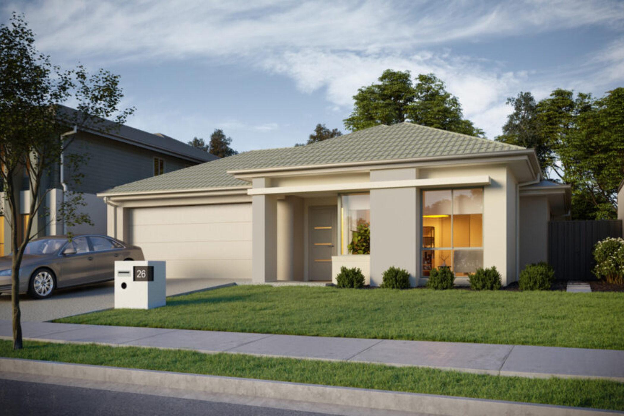 Bridgeman 3D Exterior House Render Lot 26