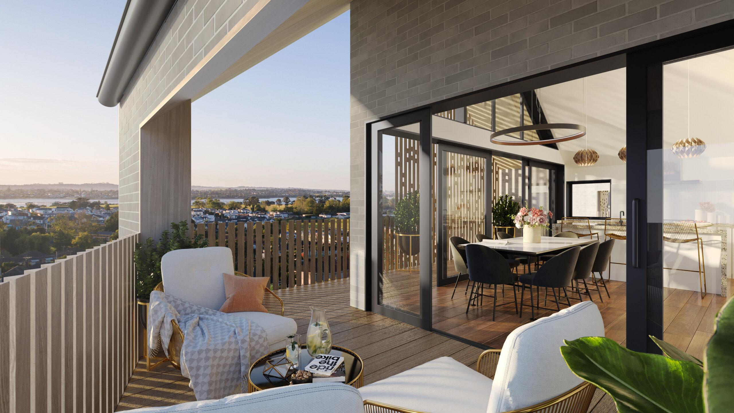 Overlea North Balcony 3D Render